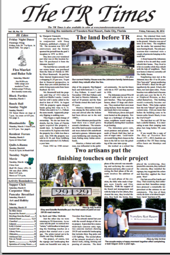 Travelers Rest RV Resort and Golf Course Newspaper