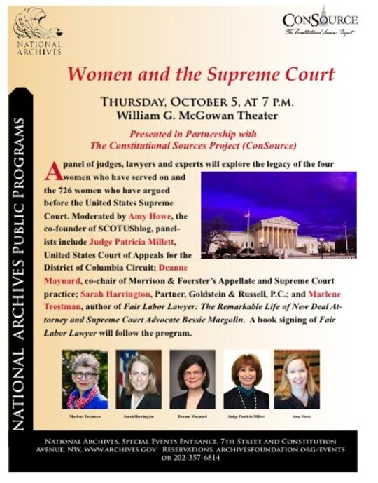 Women and the Supreme Court flyer