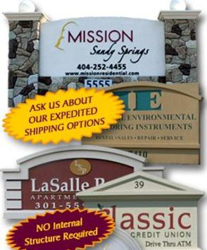 DISCOUNTED MONUMENT SIGNS