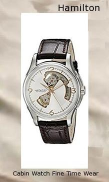 Product specifications Watch Information Brand, Seller, or Collection Name Hamilton Model number H32565555 Part Number H32565555 Model Year 2011 Item Shape Round Dial window material type Sapphire Display Type Analog Clasp Buckle Case material Stainless Steel Case diameter 40 millimeters Case Thickness 11 Band Material Leather Band length 8.5 inches Band width 20 millimeters Band Color Brown Dial color Silver Cut-Out Bezel material Fixed Polished Stainless Steel Item weight 1.1 Pounds Movement Automatic Water resistant depth 50 Meters,hamilton watch