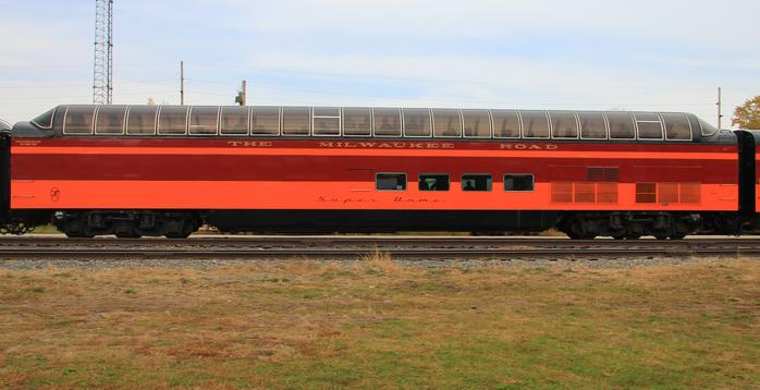 Milwaukee Road Super Dome No. 53 at Winona, Minnesota, in 2010.