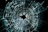Photo of broken laminated glass