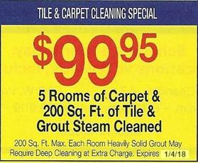 Tile and Carpet Special