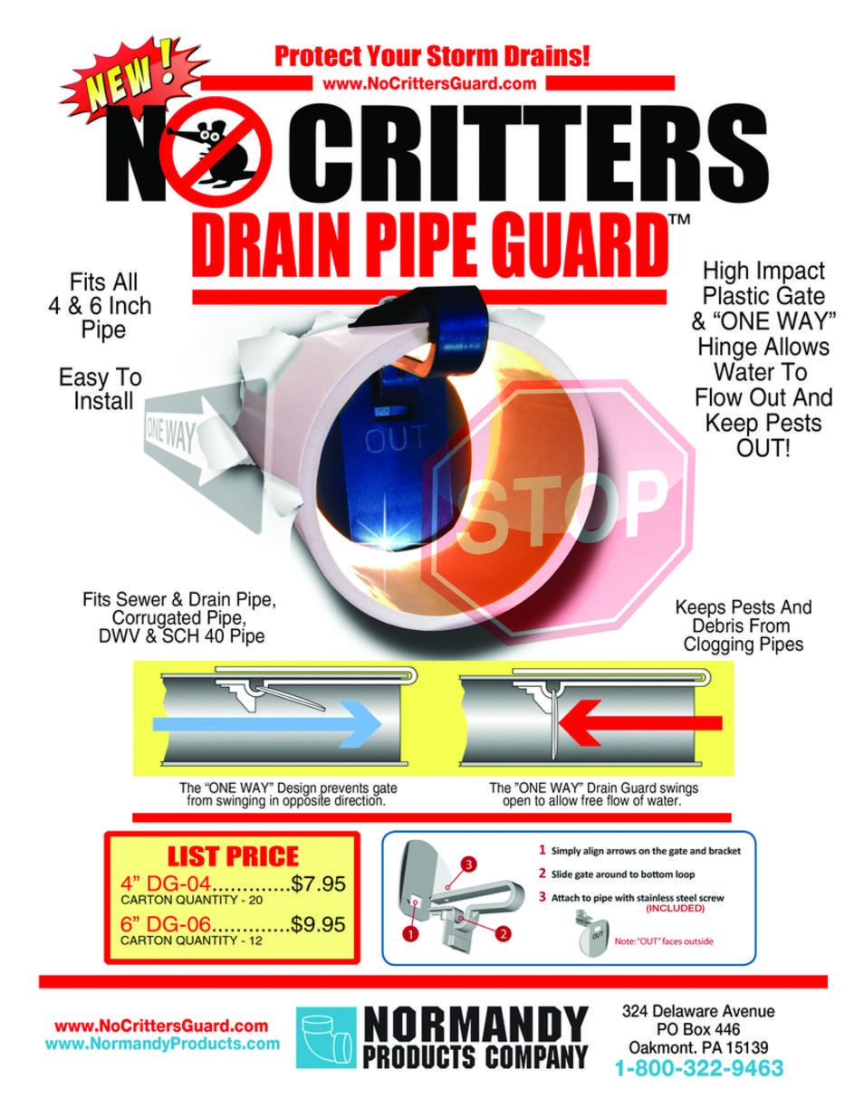 NOCRITTERS™ Drain Pipe Guard