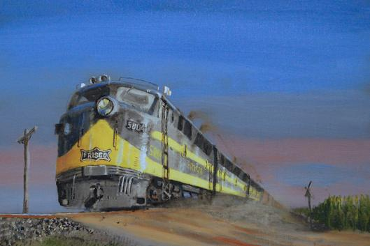 railroad locomotive painting Frisco
