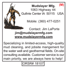 Mudslayer, Mud Cleaning Shakers, Geothermal Fields