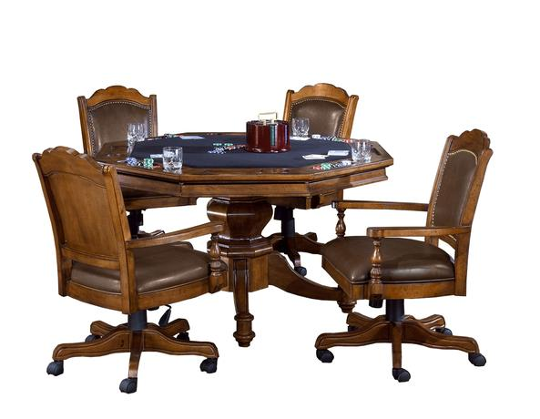 adjustable 5 piece game set table and chairs