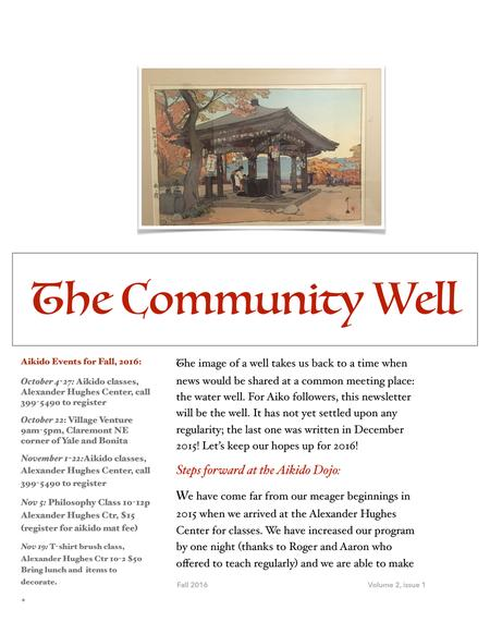 The Community Well 1