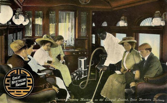 A Parlor Car on the Oriental Limited, circa 1910.