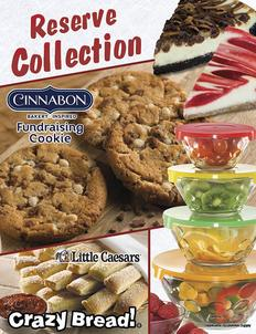Cinnabon Cookie Fundraiser Brochure