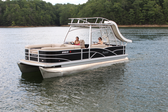 Pontoon boat for sale new and used boats for sale ky for Used fishing pontoon boats for sale
