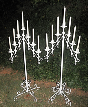 Ivory floor candelabras for rent at Rent Your Event, LLC