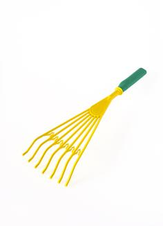 Yellow Rake with Green Handle