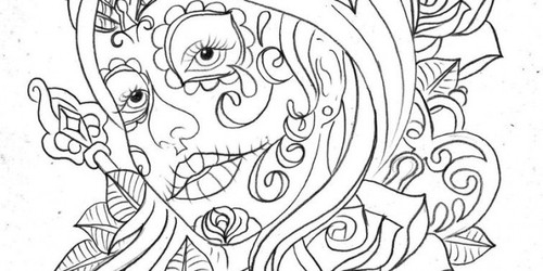 Coloring Pages For Adults Skull : M.a.i.d. mora art and interior design consultants : coloring pages