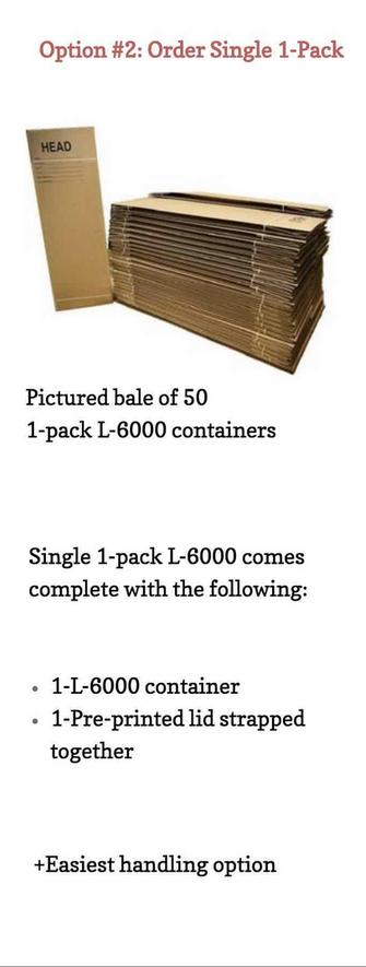 50-Quantity single pack L-6000 in bale form