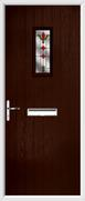 Cottage Rectangle Composite Door fleur-de-lys glass