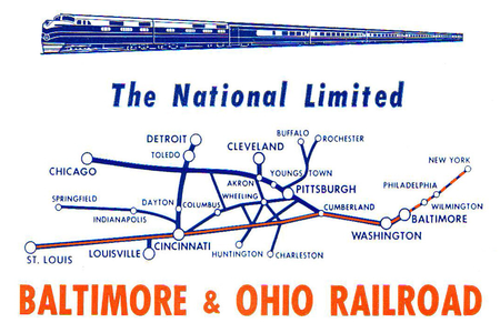 National Limited route map