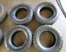 SET OF FOUR TAKEOFF TIRES LT265/70R17