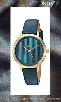 DKNY Women's 'The Modernist' Quartz Stainless Steel and Leather Casual Watch, Color:Blue (Model: NY2638)