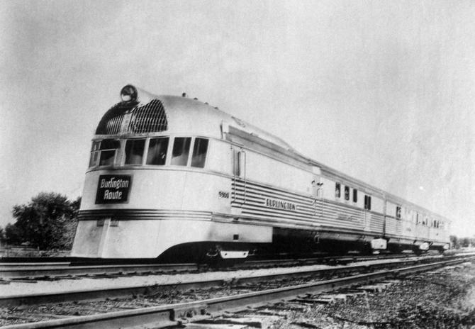 Budd Company photo of the Pioneer Zephyr, July 20, 1935