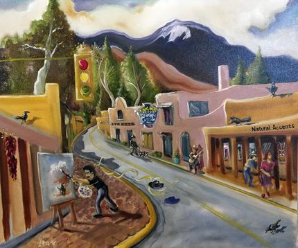 Natural Accents Gallery of Taos, Exhibiting the works of Artist David Leake