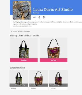 Laura Davis Art Studio Bags & Totes on Art of Where