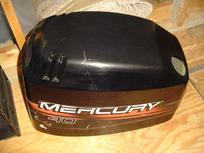 Used hood or top cowling for a 40 hp 1998, 1999 and up Mercury outboard motor.