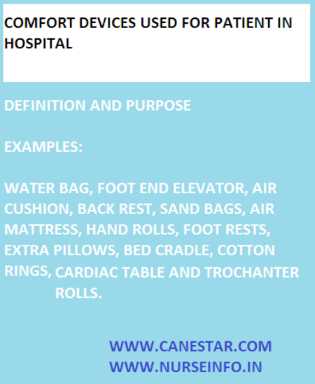 comfort devices in hospital - examples