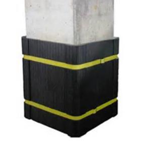 Column protector design offers extra protection in the 90 degree corners where most collision damage occurs.
