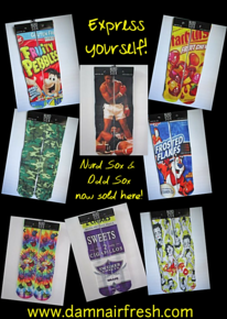 Nurd Sox, Odd Sox, Novelty Socks