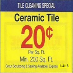 Tile Cleaning Special