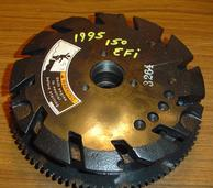 817632A2, 859238T16 Used flywheel for a 1995 150 hp Mercury EFI 6 cylinder V6 engine. 817632A2, 859238T16