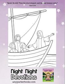Night Night Devotions coloring pages