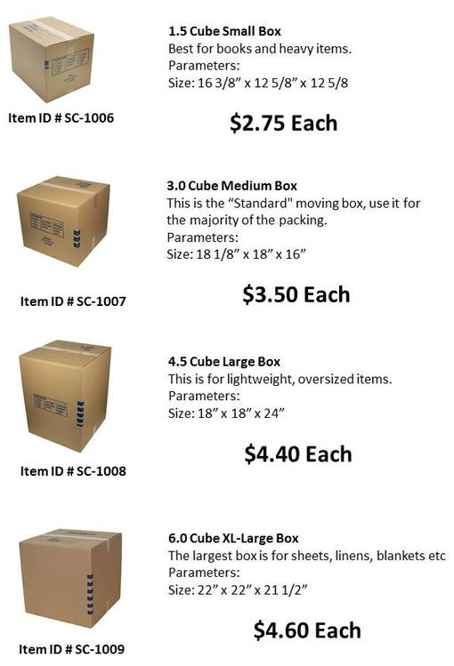 So Cal Packing & Moving Boxes and supply located at our supply store in moreno valley ca