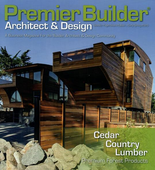 Cedar Country Lumber as featured story in Premier Builder Magazine Spring 2020