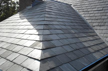 slate roof hip in Houston; slate roof installation in Houston; Houston roof contractor