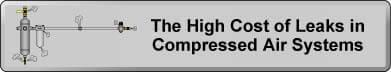 The High Cost of Leaks in Compressed Air Systems