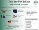 Non-woven Product Comparison Chart