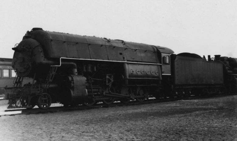 A Delaware and Hudson experimental high-pressure locomotive, ca. 1939.