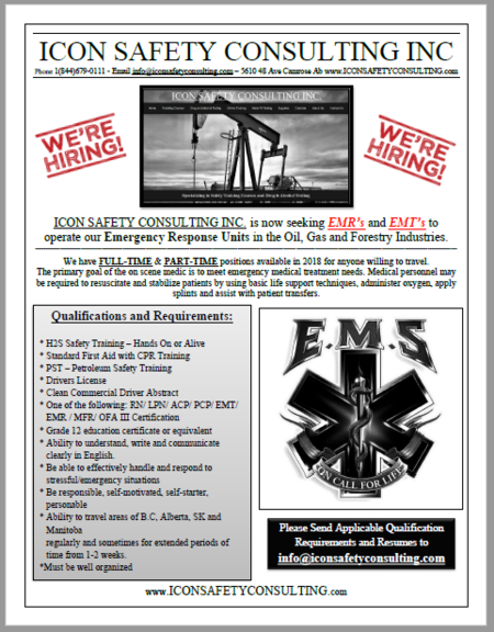 We're Hiring - MTC Mobile Treatment Center - ICON SAFETY CONSULTING INC.