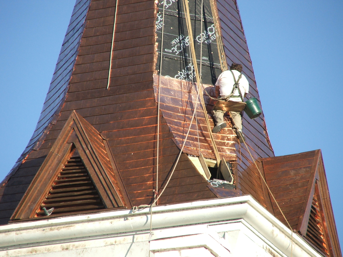 church roofing contractor steeple and church roof repair