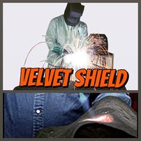 velvet shield, fibra de carbono, carbon cloth, welding protection, proteccion contra soldadura