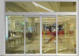 automatic sliding door with frame