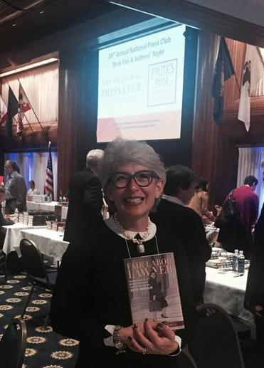Marlene Trestman, author of Fair Labor Lawyer, at the National Press Club