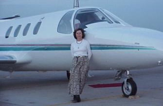 Artist Lindy C Severns back in her piloting days.