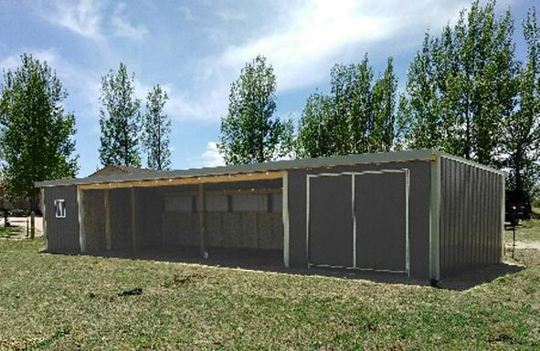 Loafing Shed with Tack room and Storage room