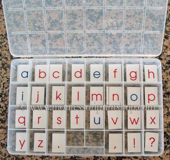 make your own printable Moveable alphabet - Montessori print shop