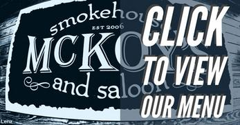 Link to Menu for McKoy's Smokehouse & Saloon