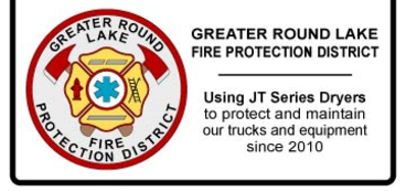 JT Series Refrigerated Compressed Air Dryers have been used by Greater Round Lake Fire Protection District to protect and maintain their Fire Trucks and equipment since 2010
