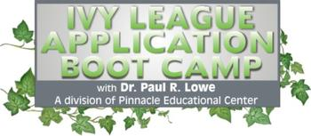 Ivy League Application Boot Camp Dr Paul Lowe